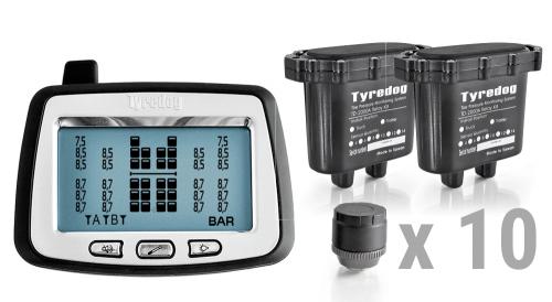 Система контроля давления в шинах грузового автомобиля, комплект 10 внешних датч
