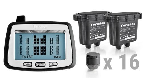 Система контроля давления в шинах грузового автомобиля, комплект 16 внешних датч