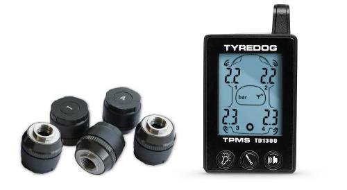 Система контроля давления и температуры в шинах с датчиком для запасного колеса.