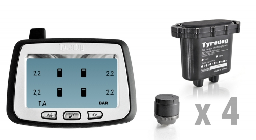Система контроля давления и температуры в шинах для прицепа TPMS CRX-1014/4