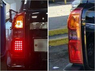 Nissan - тюнинг (слева) и сток (справа)